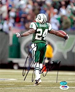 Autograph Warehouse 64544 Darrelle Revis Autographed 8 x 10 Photo New York Jets Psa Authentication Image No. 2