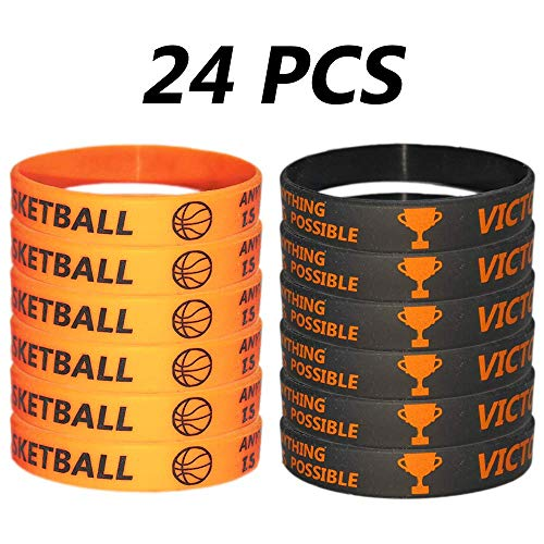 Basketball Birthday Decorations - TSLin 24 PCS Basketball Motivational Silicone