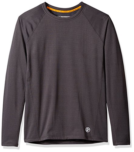 CLIMATESMART Men's X Fleece Long Sleeve Crew Neck Heavyweight Baselayer Top, Asphalt Grey, XL