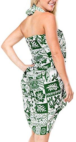 trajes de baño traje de baño bikini traje de baño cubre para arriba la falda pareo vestidos pareo 1x Verde