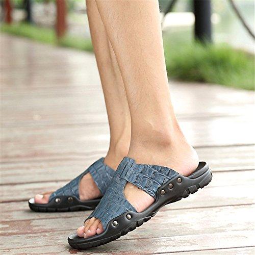 3 Libero Wagsiyi Estivo Uomo Pantofola Tempo Blu Pantofola Da Spiaggia da Da 40 2 Nero pantofole spiaggia Traspirante Scarpe Il Per EU Pantofole Colore Dimensione BBx7zqvwr