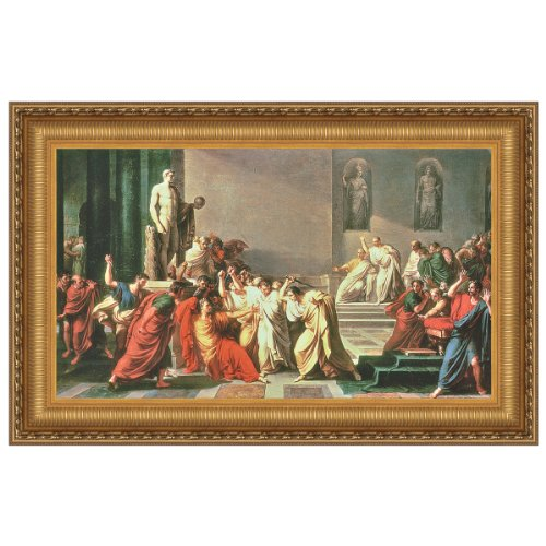 Design Toscano Death of Julius Caesar Canvas Replica Painting: Medium by Design Toscano