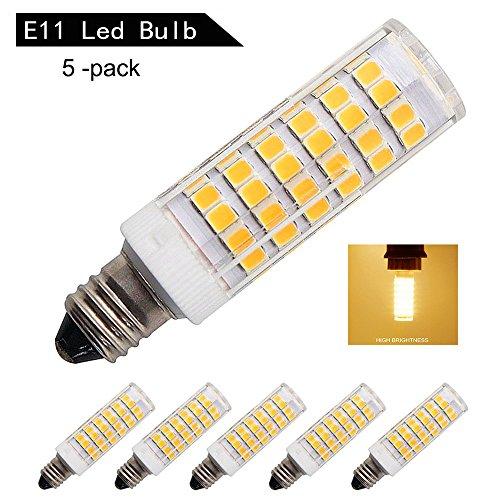 [5-Pack] E11 LED Bulb Dimmable,Warm White 3000K,6W Equivalent to 60W-75W Incandescent lamp or Halogen bulb,Mini Candelabra Base bulb,AC110V/120V/130V - 75w Halogen Light Bar
