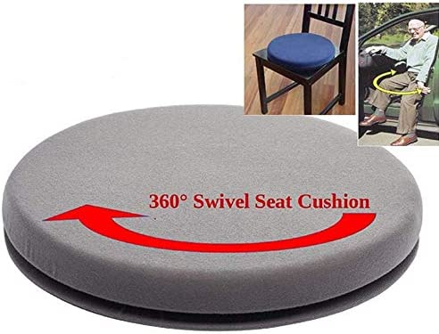 Semoic Swivel Car Seats 360 Degree Rotating Swivel Car Chair Seat Cushion Soft Solid Mats Bottom Easy Access Mobility Home Office