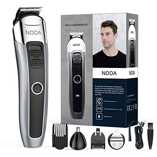 Small Adjustable Beard Trimmer for Men, Rechargeable Cordless Mens Beard Trimmer, Hair Clipper, Ear and Nose Trimmer, Detail Trimmer