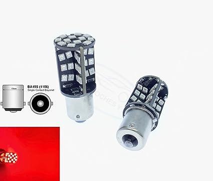 TMT LEDS(TM) 2 X BOMBILLA LED BA15S 1156 CANBUS 60 LEDS SMD 2835