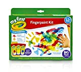 Toys : Crayola My First Fingerpaint Kit, Washable Paint, Gifts, Ages 1, 2, 3, 4, 5