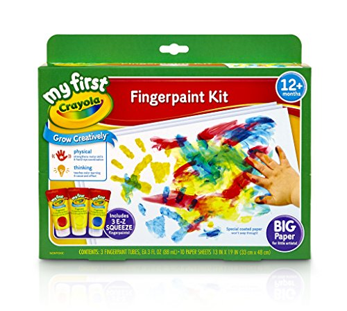 Crayola My First Fingerpaint Kit, Washable Paint, Gifts, Ages 1, 2, 3, 4, 5 - Color Wonder Finger Paint