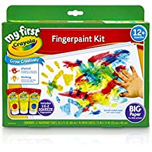 Crayola; My First Crayola; Fingerpaint Kit; Art Tools; 3 Tubes of Paint; 10 Sheets of Paper; Washable