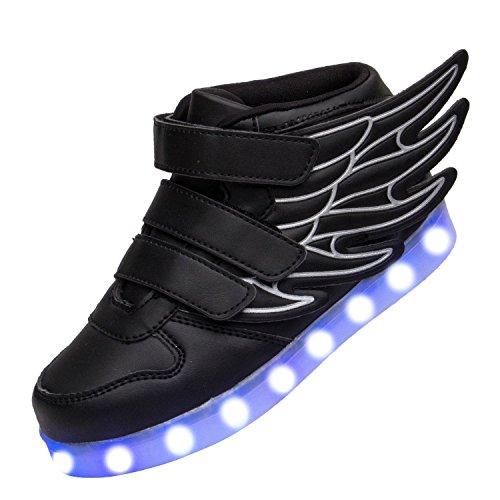 6KZMNA0Z0A 6KZMNA0Z0A 6KZMNA0Z0A Summer New Children's Shoes Wings USB Children's Leisure Sports LED Light Shoes 29fdec