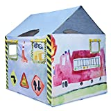 """HUGE Boys Construction Play Tent with Carrying case 47"""" x 58"""" x 58"""" by Bluenido"""