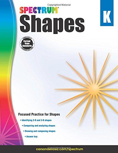 Shapes, Grade K (Spectrum): Spectrum, Carson-Dellosa Publishing ...