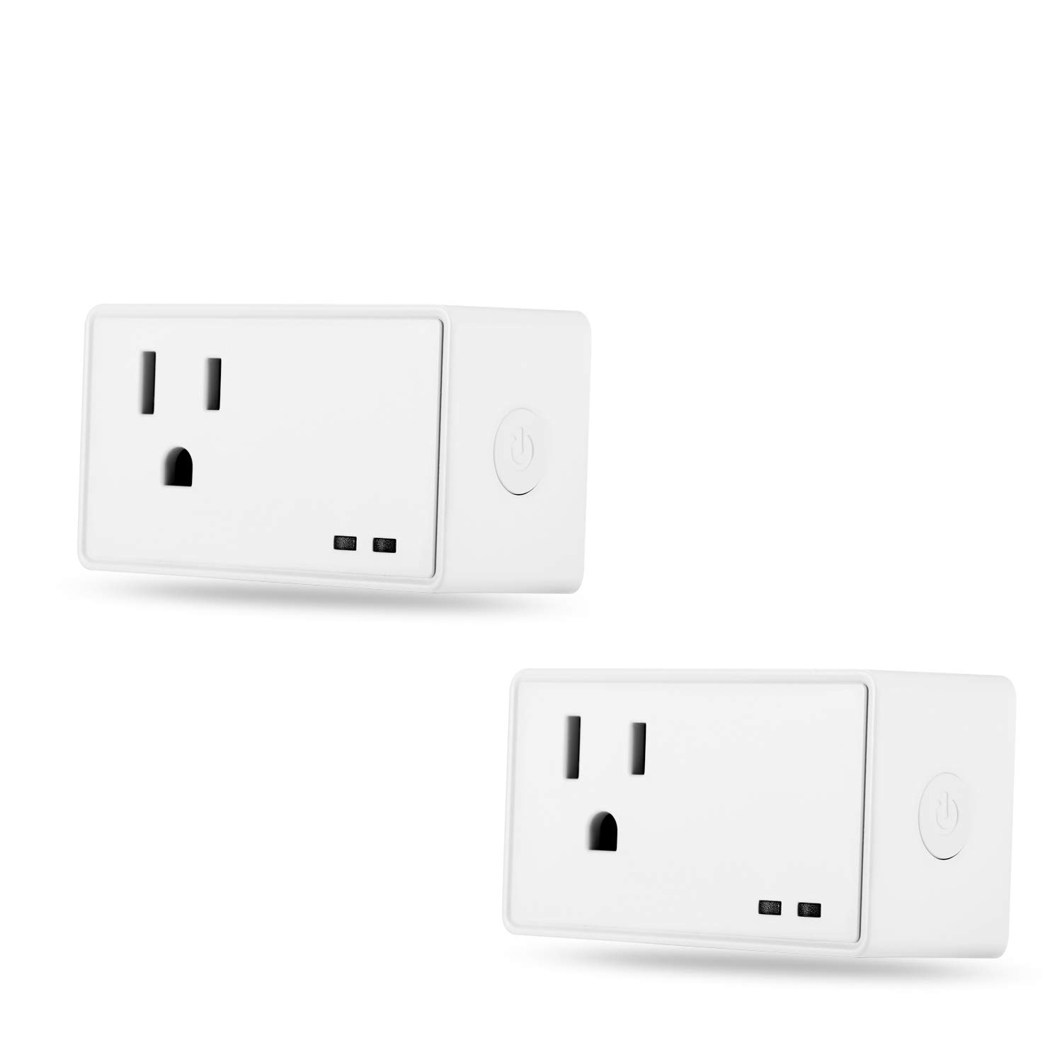 Smart Socket Wifi Plug Outlet Alex Google Home Plug Control your Devices from Anywhere, Power Switch,No Hub Required (2 Packs)