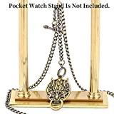 ManChDa Double Albert Chain Pocket Watch, Curb Link