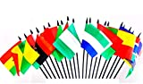 NORTHWEST AFRICAN WORLD FLAG SET--20 Polyester 4''x6'' Flags, One Flag from 20 Countries in Northwest Africa, 4x6 Miniature Desk & Table Flags, Small Mini Stick Flags