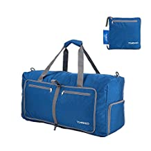 TOMSHOO 80L Foldable Packable Duffle Bag Large Travel Luggage Shopping Gym Storage Bag Water-resistant