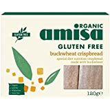 Amisa Organic Buckwheat Crispbread 120 gram (Pack of 6)