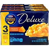 Kraft Deluxe Original Cheddar Macaroni & Cheese Dinner (3 - 14 oz Boxes)