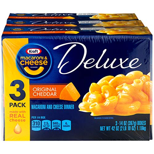 Kraft Deluxe Original Cheddar Macaroni & Cheese Dinner (14 oz Box) (3-Pack)