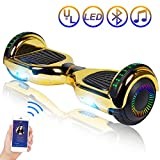 Hoverboard Self Balancing Scooter 6.5' Two-Wheel Self Balancing Hoverboard with Bluetooth Speaker and LED Lights Electric Scooter for...
