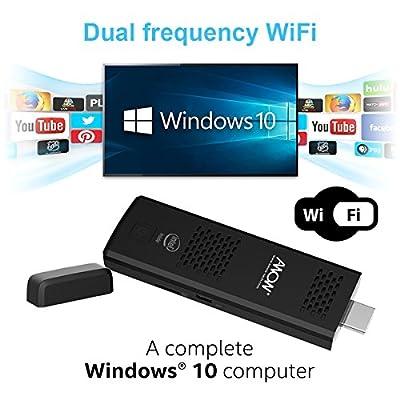 AWOW MP18 Intel Cherry Trail Fanless Mini PC Windows 10.1 (Home) [4GB/32GB/Dual-Band Wi-Fi/4K HD Display]-(MP18-SC432) (4GB)