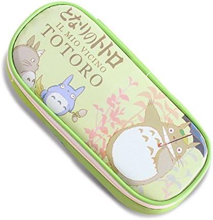 Piel sintética estuche Cartoon Mi Vecino Totoro School Bolsa de lápiz, color verde: Amazon.es: Oficina y papelería