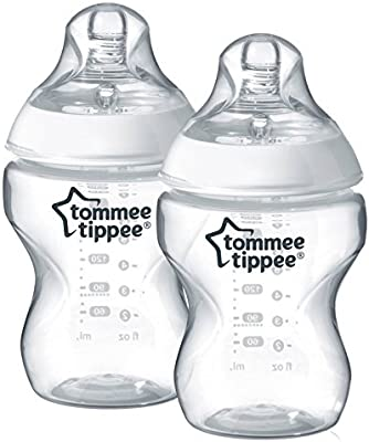 6 Count 260 ml Tommee Tippee Closer to Nature Clear Bottles