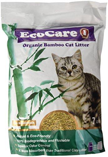 Dust Free Fiber Cat Litter (EcoCare Organic Bamboo Cat Litter for Short Hair)
