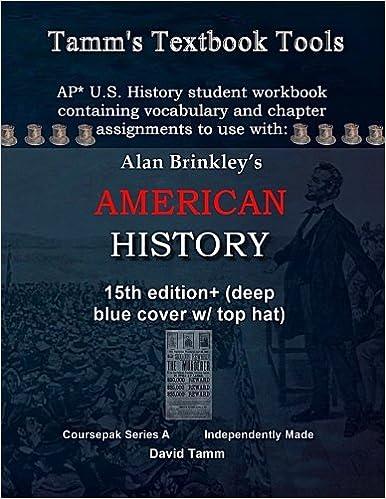 Amazon com: Brinkley's American History 15th Edition+