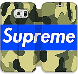 samsung galaxy S6 Cell Phone Case Supreme Brand Logo Colorful Printing Leather Flip Case Cover A1ER418554