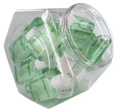 Aloe 2 Ounce Jar - 2 Oz Hand Sanitizer with Aloe and Vitamin E  (24 pieces per Jar)