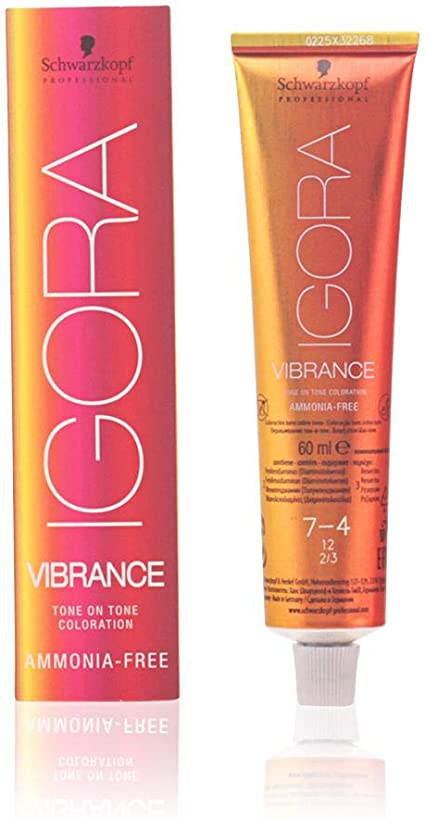 Schwarzkopf Professional Igora Vibrance 7-4 Ammonia Free Tinte - 60 ml