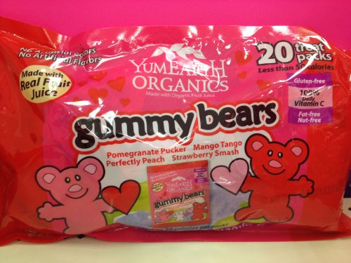 YumEarth Organics Gummy Bears Valentines 20 Pack