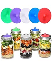 XLU 5 Pack, Silicone Waterless Airlock, Silicone Pickle Tube, Water-Free Airtight Fermentation Cover, is Suitable for Making Sauerkraut, Kimchi, Etc. in Wide-Mouth Glass Bottles