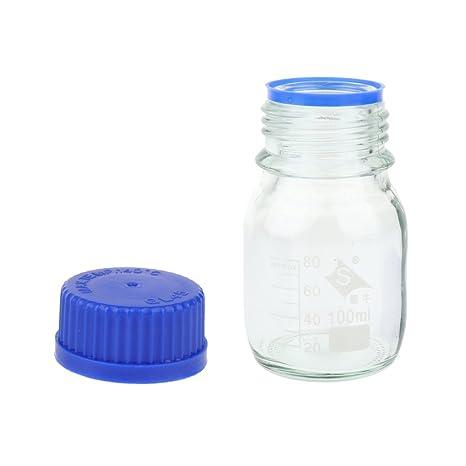 Homyl Botella de Vidrio Utensilio de Medición Laboratorio Herramientas Manuales Eléctricas Mesa Aire Libre - 100