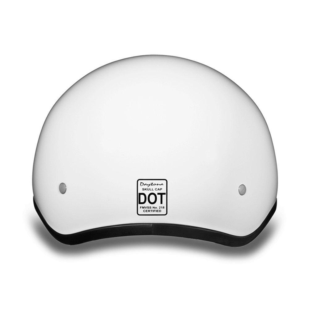 D.O.T DAYTONA SKULL CAP HI-GLOSS WHITE