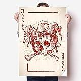 DIYthinker Joker Red Crown Skeleton Poker Card Pattern Vinyl Wall Sticker Poster Mural Wallpaper Room Decal 80X55cm