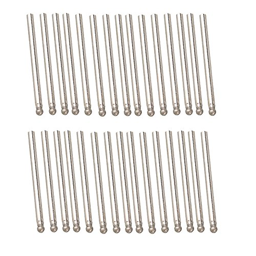 BQLZR 3mm Diameter Sphere Point Diamond Coated Burrs Glass Drill Bit for Die Grinder Pack of 30