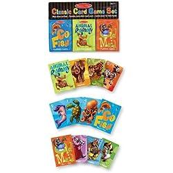Melissa & Doug Classic Card Games Set - Old Maid, Go Fish, Rummy