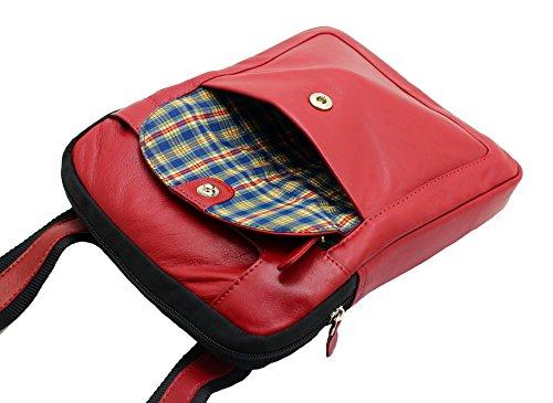 Genuino De Tableta Unisex Encienden Diseñador Recorrido Starhide® Hombro Del Bolso Cuerpo Ipad Para Cruzado 505 La Mensajero Rojo Cuero 6Sw6x5q