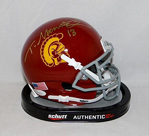 (Todd Marinovich Autographed USC Trojans Schutt Mini Helmet- JSA Witnessed Auth)