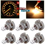CCIYU 6 Pack Warm White T4/T4.2 Neo Wedge Halogen A/C Climate Control Bulb for A/C Climate Control Light