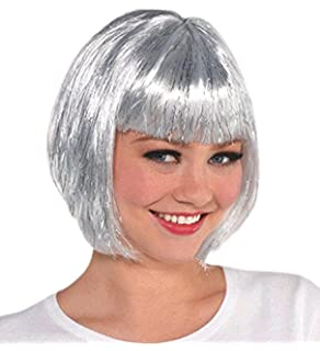 Silver Bob Style Wig (Wigs and Adult Costume Accessories plus Children Alike) Fun Party