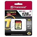 Transcend 64 GB High Speed 10 UHS-3 Flash Memory Card 95/60 MB/s (TS64GSDU3),Gold 16 Ideal for Full 1080p HDD, Ultra 2160p HD, 3D and 4K video recording.Operating Temperature -25°C(-13°F) to 85°C(185°F) Up to 95/60 MB/s ; Minimum constant 30 Mb/s write speed guaranteed for real-time video recording Supports Ultra High Speed Class 3 specification (U3)