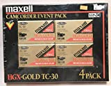 MAXELL HGX-GOLD VHS-C TC-30 4 PACK