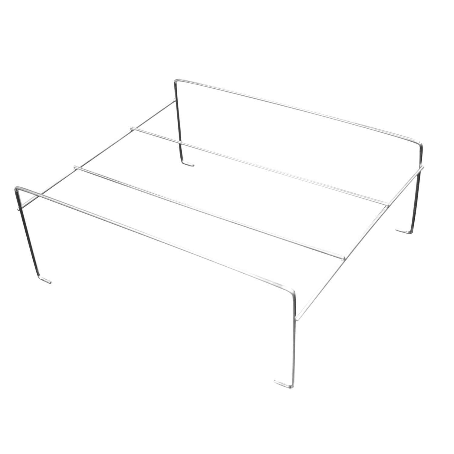 Party Essentials Economy Square Chafing Rack with Supports, Wire Buffet Rack Stand, Serving Trays Frame Food Warmer, Chrome (Case of 48)