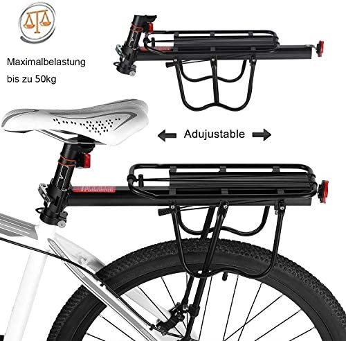 Portaequipajes trasero de aluminio para bicicleta - Ideal para ...