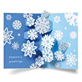 Sabuda Swirling Snowflakes Pop Up Boxed Holiday Christmas Greeting Cards