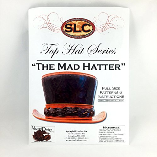 """Leather Top Hat Pattern/Instructions """"The Mad Hatter"""""""