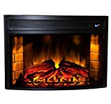 Comfort Smart Verve 24-inch Curved Electric Fireplace with Remote, Insert CS-501625